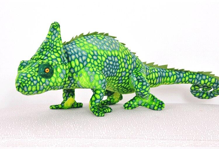Créative en peluche simulation caméléon jouet nouveau vert lézard poupée cadeau sur 69x28 cm 2731