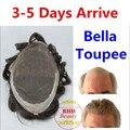 Белла парик-Небольшая Волна Средний Свет Мужская Волос Кусок Парик Высокое Качество-может Сократить для Настройки серии