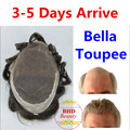 Bella toupee--Slight Wave Medium Light Mens Hair Piece Toupee Best Quality--Can be Cut Down for Customization series