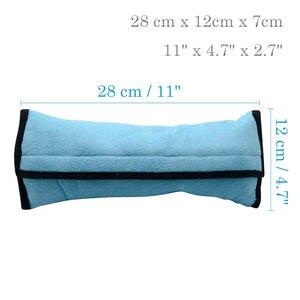 Image 5 - カバーシートベルト枕安全ベルトプロテクタークッション子供のための 1 Pc のショルダーストラップパッドクッションヘッドサポート