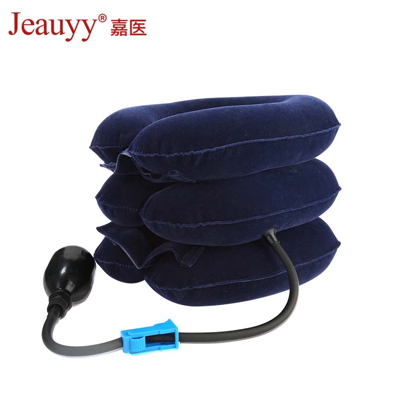 Jeauyy Cervical Neck Traction Collar Neck Therapy Massage Inflatable Cushion Brace Orthopedics Medical Physiotherapy Pain Relief medical polymer envelope neck collar cervical spondylosis cervical holder torticollis cervical traction s m l