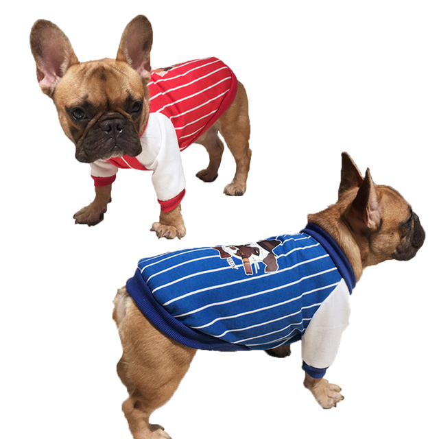 Grasso Vestiti Del Cane Per Pug Bulldog Francese Vestiti Del Cane di  Inverno Della Maglia Stripes 8d515a40d36