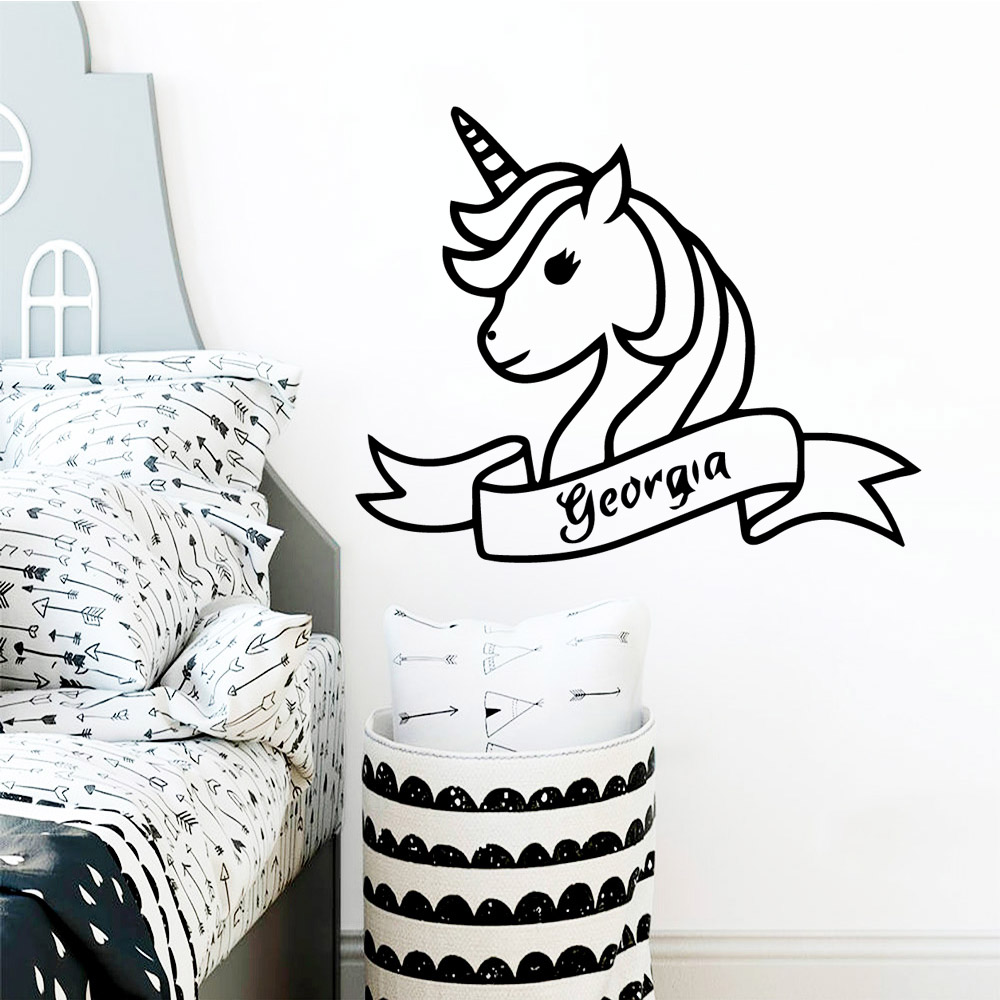 Lovely Unicorn Wall Art Decal Decoration Fashion Sticker For Living Room Bedroom