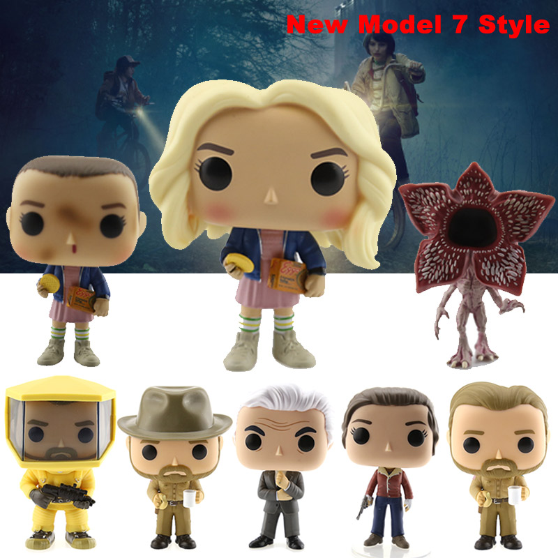 New Style About 10cm Stranger Things ELEVEN WITH EGGOS Hand DEMOGORGON Action Figure Bobble Head Q Edition For Car Decoration in Action Toy Figures from Toys Hobbies