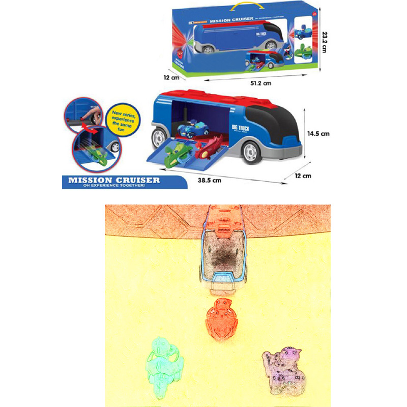 Les Enfants PJ Maskd Big Mission Cruiser  Toy Anime Connor Greg Amaya Racing Car&Truck Display Jouet Kids Christmas Gift lucky john croco spoon big game mission 24гр 004