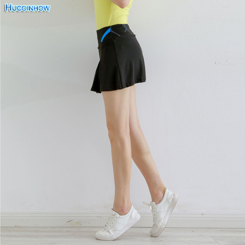 2018 Women Running Women Sports Skirts 3 Colors For Female Badminton Tennis Skirts Pleated Above Knee With Anti Emptied