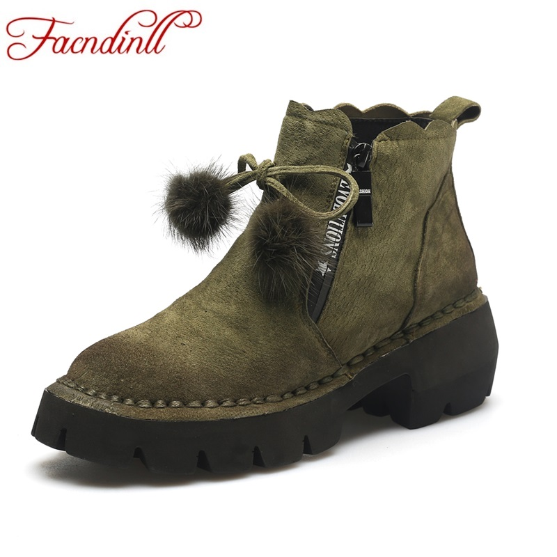 FACNDINLL hot size 2017 new fashion genuine leather women ankle boots shoes high heels round toe shoes woman casual riding boots womens shoes round toe platform high heels pumps women ankle boots 2017 new fashion metal decoration genuine leather woman heels