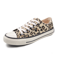 Moxxy Leopard Shoes Woman Print Flats Casual Shoes Woman Lace Up Golden Canvas Shoes trainers High Top Winter Sneakers Women woman sneakers metallic color woman shoes front lace up woman casual shoes low top rivets embellished platform woman flats brand