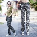2017 Mujeres de La Manera de Camuflaje Pantalones Cargo del Ejército de Algodón Cintura Flaco Lápiz Pant Pantalones Para Las Mujeres shipping