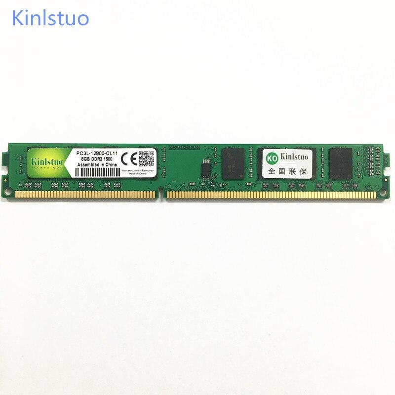 Kinlstuo DDR3 RAM DDR3L 8 GO 1600 MHz PC3L-12800 DIMM 240PIN ordinateur de bureau de mémoire 1.35 V basse tension