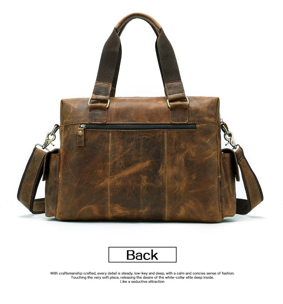 HTB1dA2SX.zrK1RjSspmq6AOdFXam MVA Genuine Leather Men's Briefcase Messenger Bag Men's Leather Laptop Bag For men Office Bags For Men Briefcase Handbags 8537
