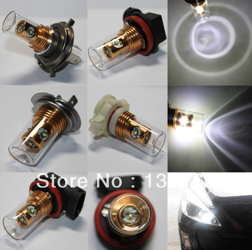 Xenon White CREE Q5 Chips 25W H4/H7/H8/H9/H11/H10/9005/9006/H16 High Power Fog Light Driving Headlight DRL Bulb 12v-24v