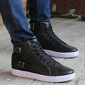New 2016 Fashion Pu Leather Men Shoes High Top Breathable Hip Hop Flat Mens Adult Male Shoes Free Shipping
