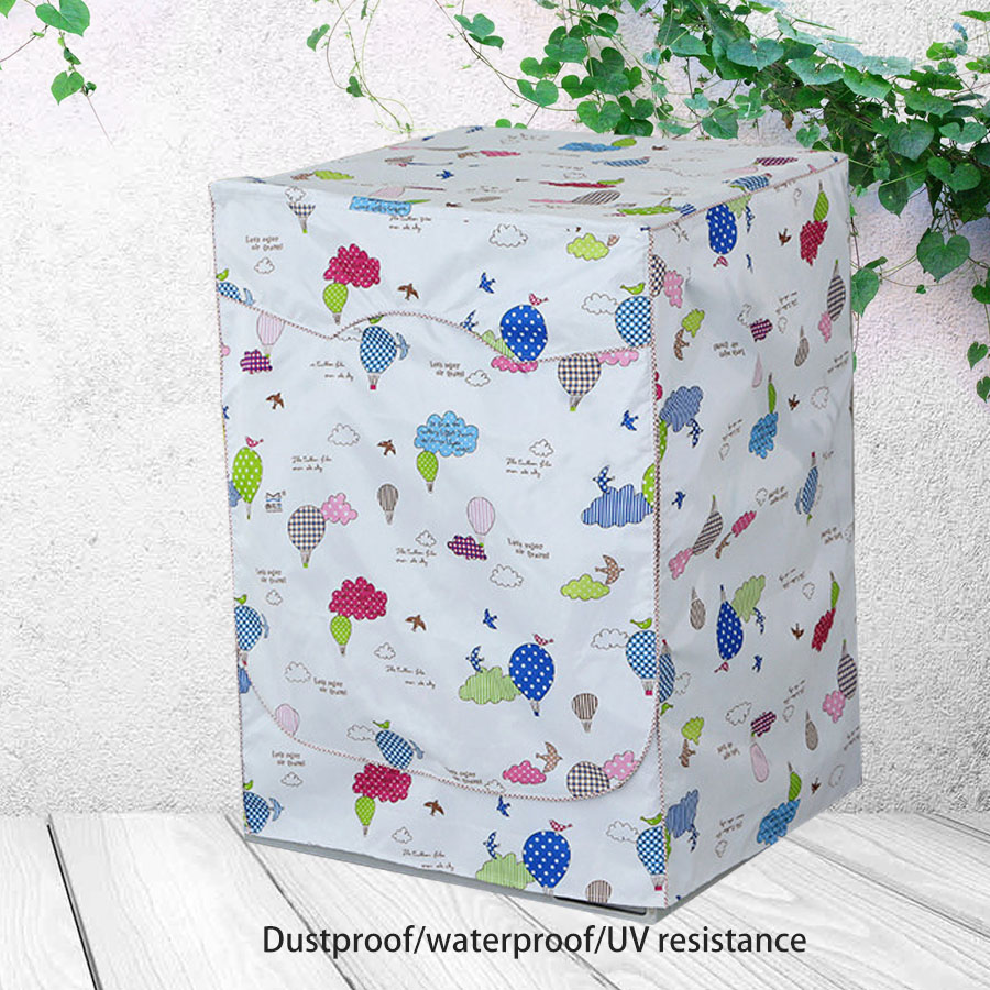 US $20 9 |Washing Machine Dust Cover Sunscreen Waterproof Case Home Laundry  Dryer Polyester Silver Coating Automatic Roller Dustproof-in Washing
