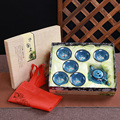 Фарфоровый чайный набор кунг-фу Tenmoku fish fun чайный чайник [1 чайник + 6 чашек] с подарочной коробкой