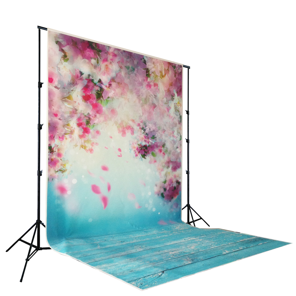 petal peach blossom printed baby photo backdrops Art fabric newborn wood backdrops for studio photography background