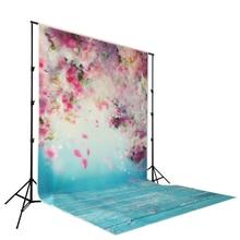 Лепесток цветение персика печатных детское фото фонов Книги по искусству ткани новорожденных деревянные фонов для студии фотографии фоном d-9923