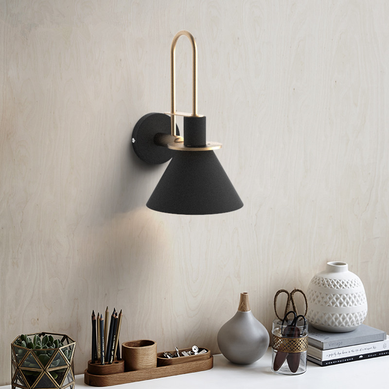 Nordic Personality Minimalism Living Room Macaroon LED Wall Lamp Aisle Bedroom Bedside Decor Wall Light Fixture modern nordic solid wood led rotated wall lamp bedside night light bedroom living room aisle sconce light fixture wall decor art