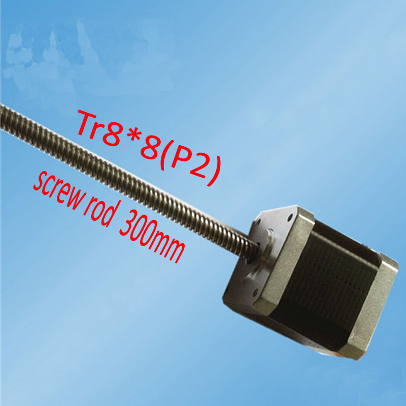 цена на 42MM screw motor TR8*8 10W 1.2 A 2 phase 1.8 degree 42SHD0219-300NK Hynrid stepping motor for 3D printer