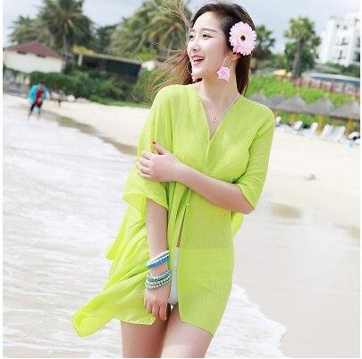 TDFunlive nieuwe zomer chiffon bedrukte losse vest sjaal vrouwelijke - Sportkleding en accessoires - Foto 2