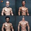 2016 Compatible ZC Muscular Figura Juguetes 1/6 Escala Cuerpo Con Russell Crowe Ira Leonardo Wolverine Head ZC01 ZC02 ZC03