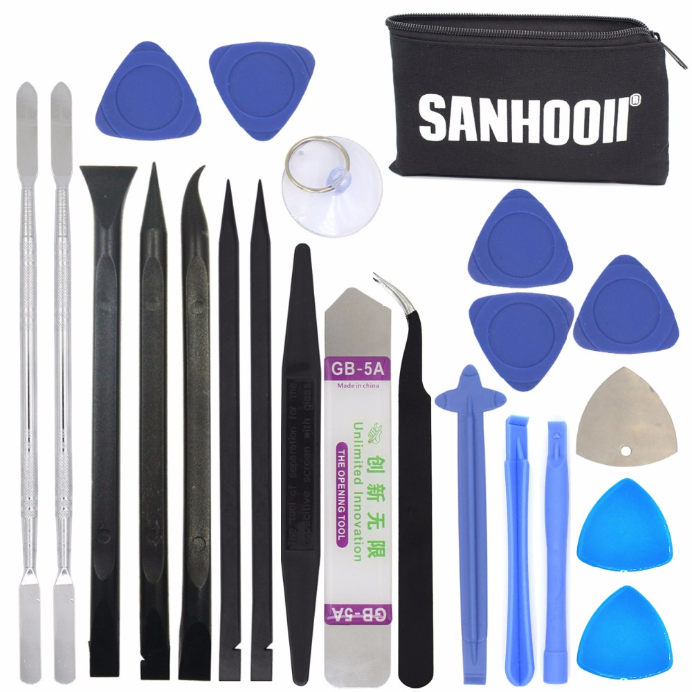 SANHOOII 22in1 Mobile Cell Phone Repair Screen Opening Tools Kit Metal Spudger Pry Table TV Box Toy Game Console Repairing Tool