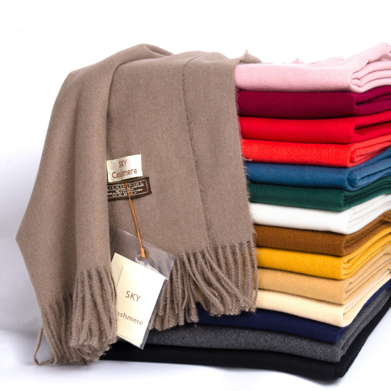 Winter Soft Warm Cashmere Scarf For Women Wool Scarves Khaki Winter Poncho Black Men's Cashmere Scarfs Female Shawl Red Pashmina
