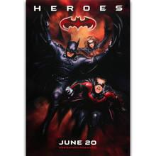 S1755 Batman y Robin película clásica DC pared arte pintura impresa en lienzo de seda póster decoración del hogar