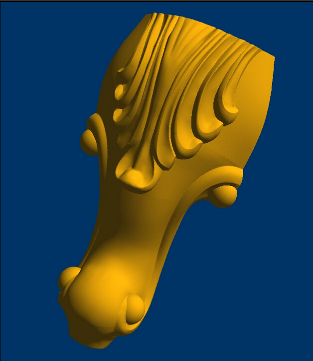Small Short Table Leg 3d  Model Relief  For Cnc In STL File  Format Furniture Leg--82
