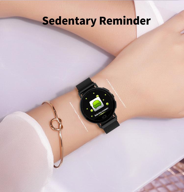 Montre intelligente femmes moniteur de fréquence cardiaque 9