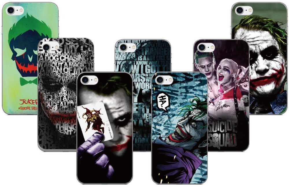 Suicide Squad Joker Cover For Samsung Galaxy S8 Plus Note 8 A3 A5 A7 J3 J5 J7 2017 US / EU Eurasian Version Phone Case Coque