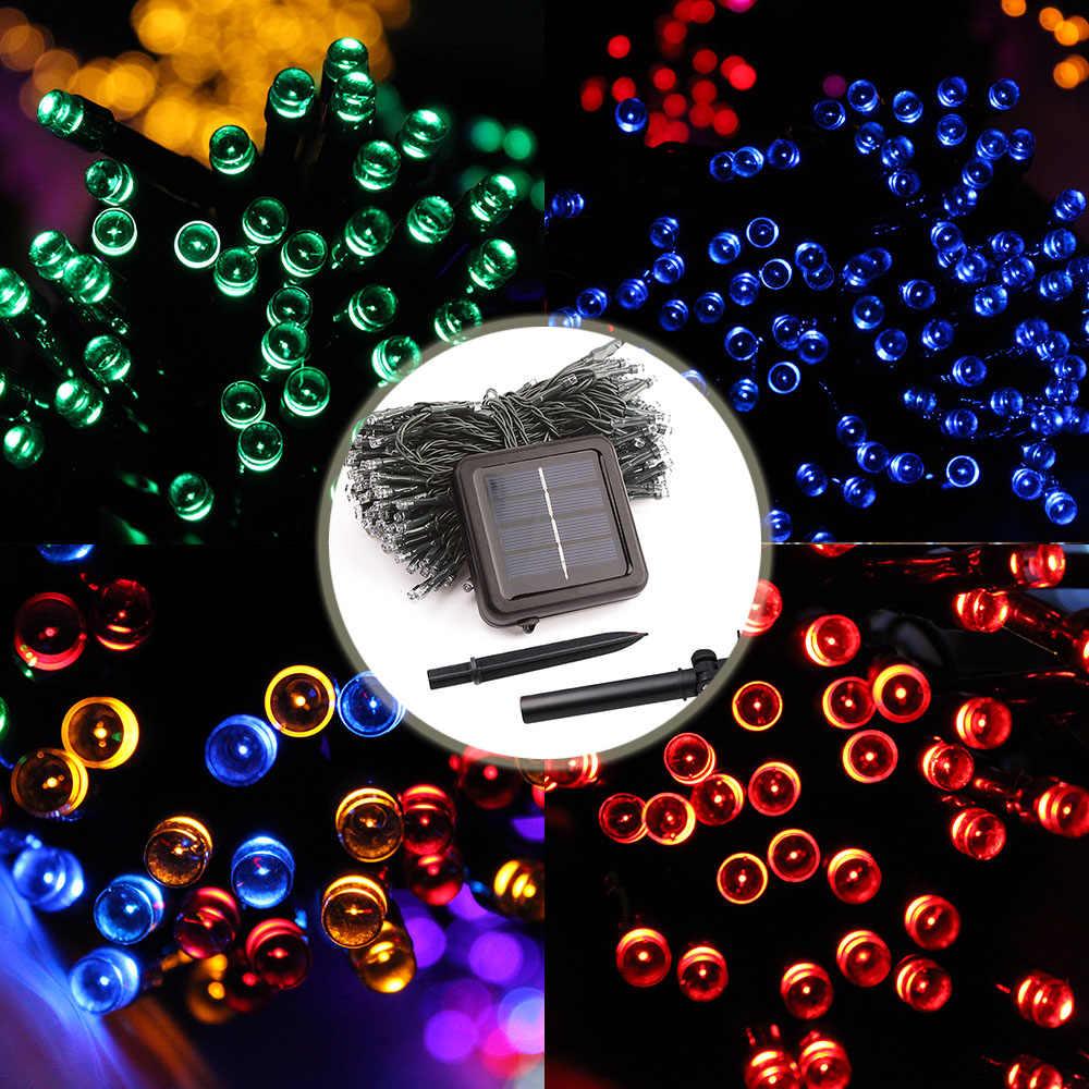 パティオストリングライト花輪ledランプの装飾休日ソーラーガーデンランプソーラー照明ストリングの妖精ライト22メートル200led防水