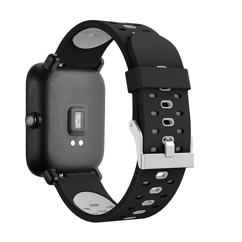 20mm Silicone Band Strap For Xiaomi Huami Amazfit Bip Youth Edition Smart Watch Replacement Band Sport Breathable Bracelet Belt 2