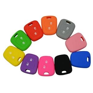 Image 2 - OkeyTechซิลิโคนรถกุญแจสำหรับPeugeot 206 307 207 408 สำหรับCitroen C2 C3 C4 ยางนุ่ม 2 ปุ่มคีย์Fob Case SHELL