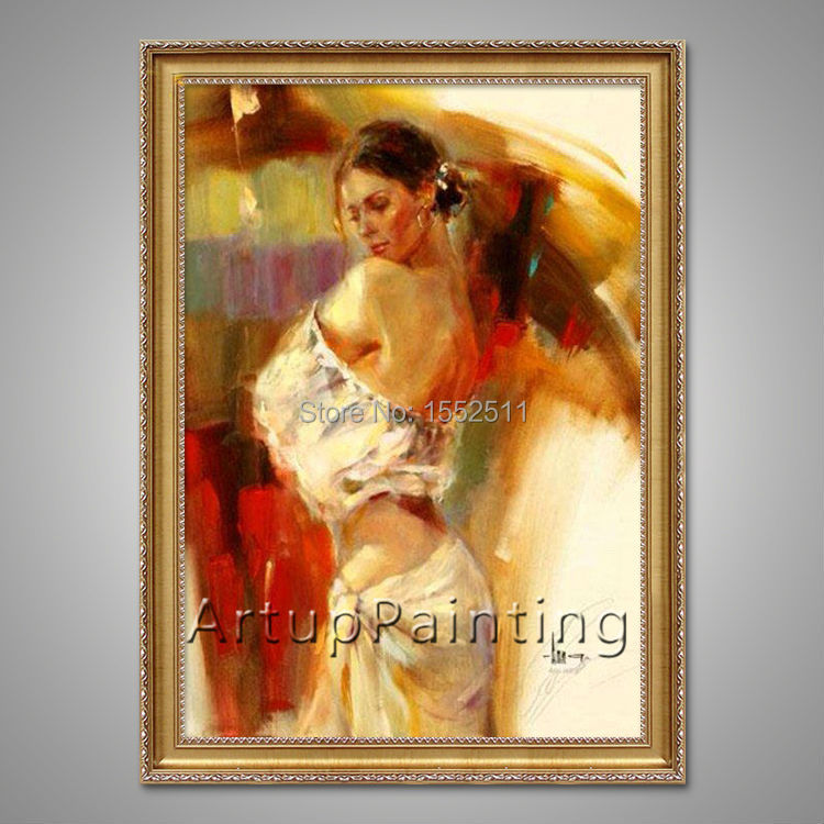 Spanish Flamenco Dancer painting latina woman Oil painting wall art pictures for living room home decor caudros decoracion02