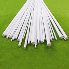 ABS03 40pcs Styrene ABS Round Pipe Round Tube Model Making Scenery 500mm Architectural Constructions Models SceneryDia 2 10mm