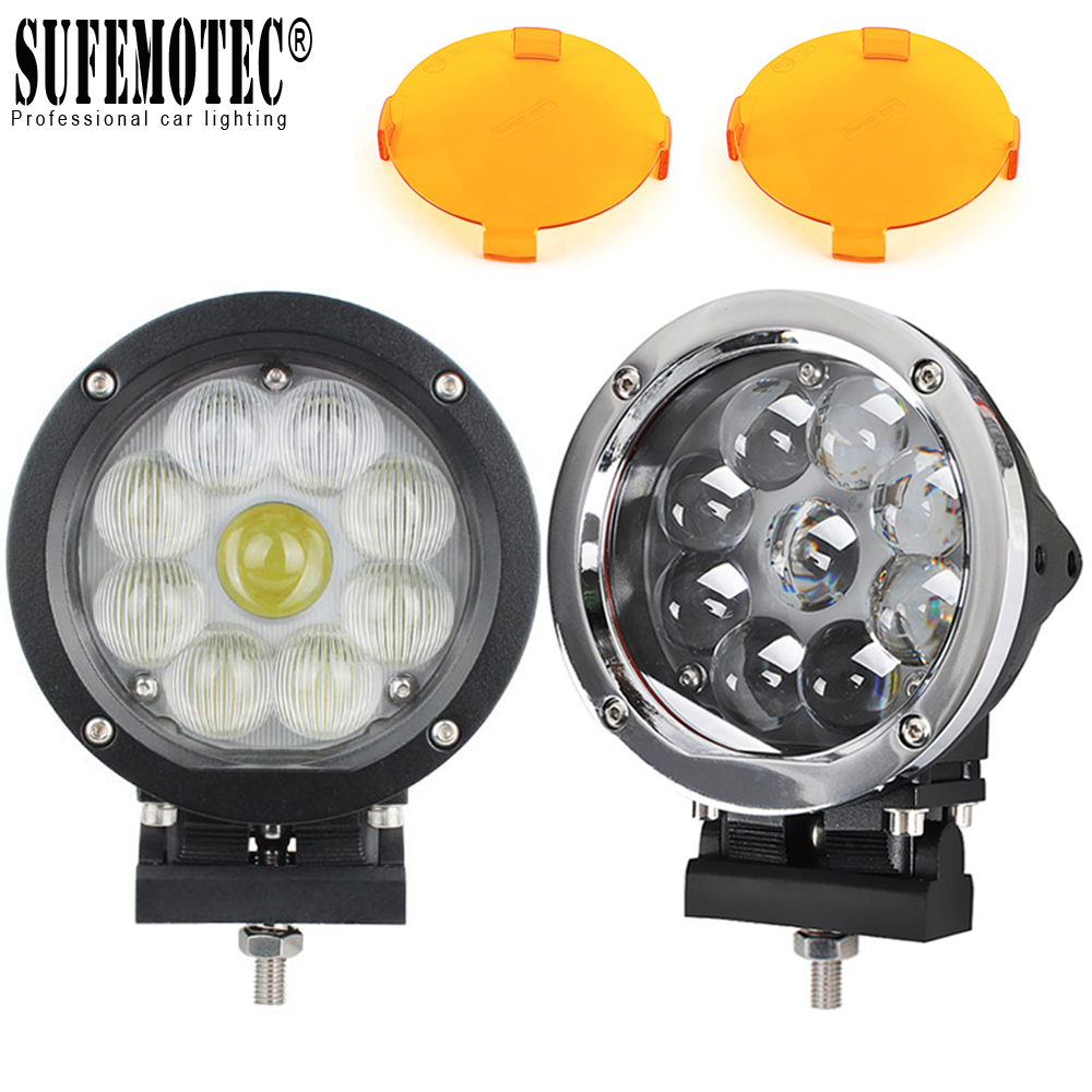 5.5 Inch Round 45W LED Work Light Spot Combo For Offroad Machinery 4WD ATV SUV Truck 4x4 Driving HeadLights Fog Lamps 12V 24V цена