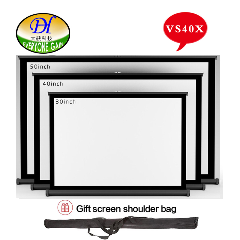 everyone gain vs40x 40inch 43 convenient projector screen portable floor screen stand proyector curtain