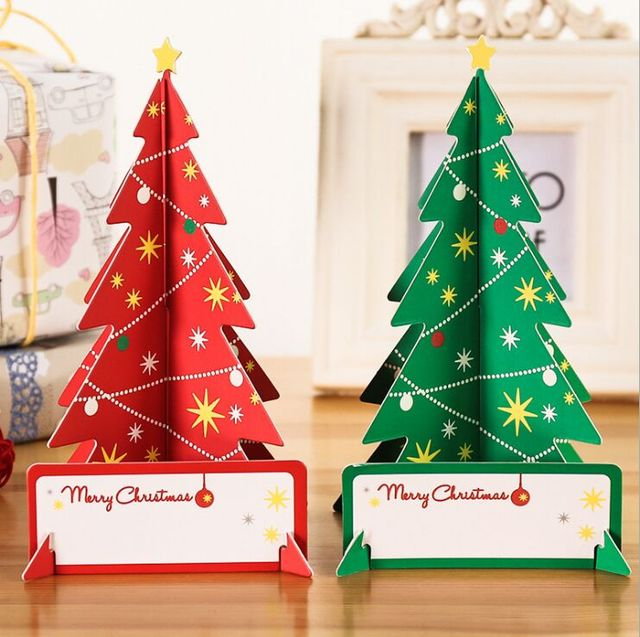 2017 diy 3d luminous christmas cards christmas card making postcard greeting thanksgiving cards origami christmas tree - Christmas Photo Cards 2017