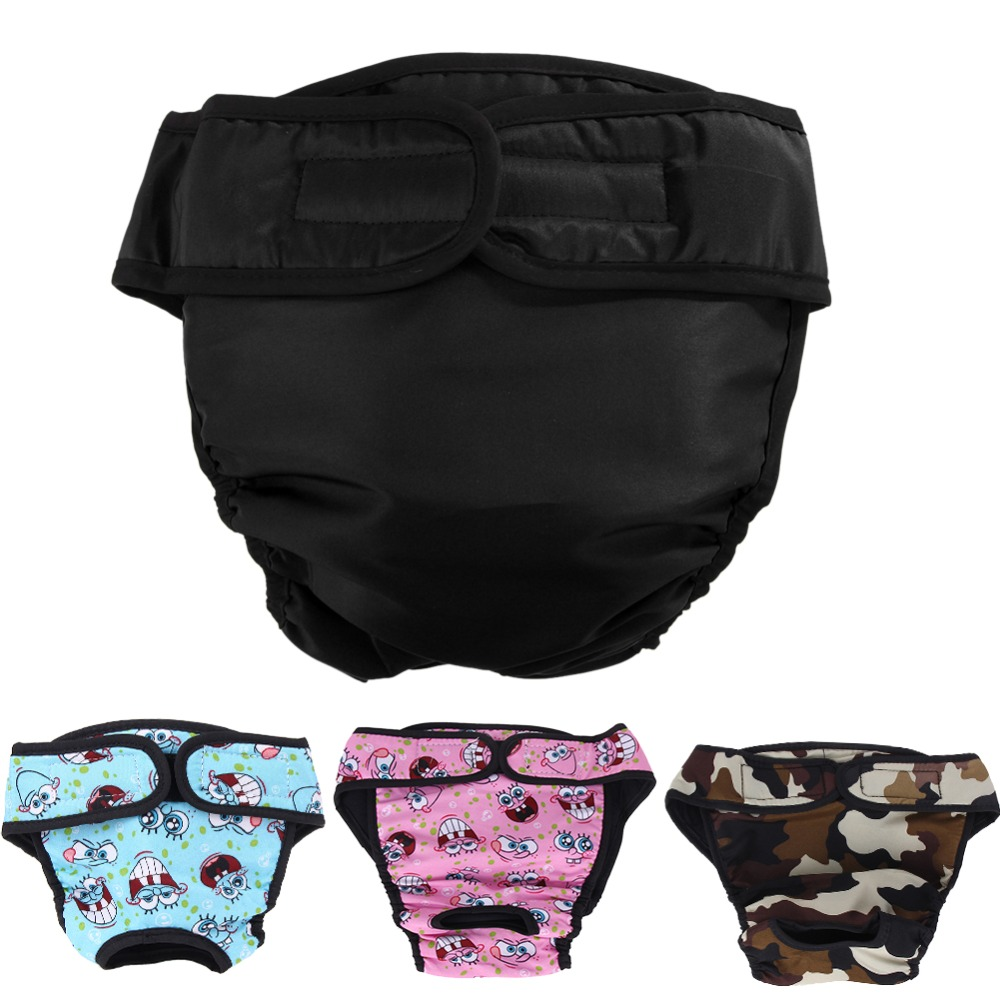Xs-xxl Dog Diaper Sanitary Physiological Pants Washable Female Dog Shorts Panties Menstruation Underwear Briefs