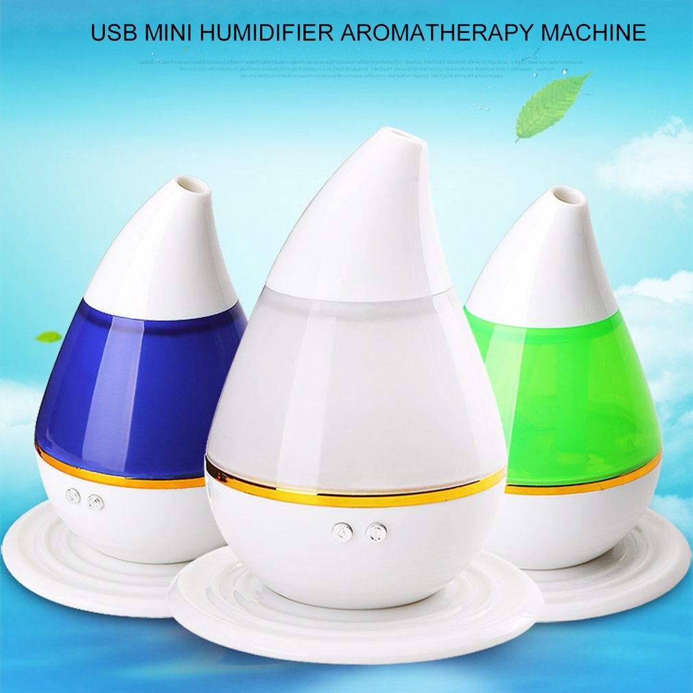 Ultra-Quiet Portable Ultrasonic Air Humidifier 3D Effect Glass Night Lights Aromatherapy Diffuser Best Gift dropshipping недорого