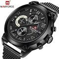 Лучший бренд NAVIFORCE календарная мода мужчины спортивные часы мужские кварцевые часы военно-анфас стали наручные часы Relogio Masculino