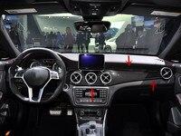 Углеродного волокна отделки приборной панели Кондиционер Vent отделкой для Benz CLA W117 GLA X156 CLA180 CLA200 CLA220 CLA250 CLA45 GLA200 GLA45