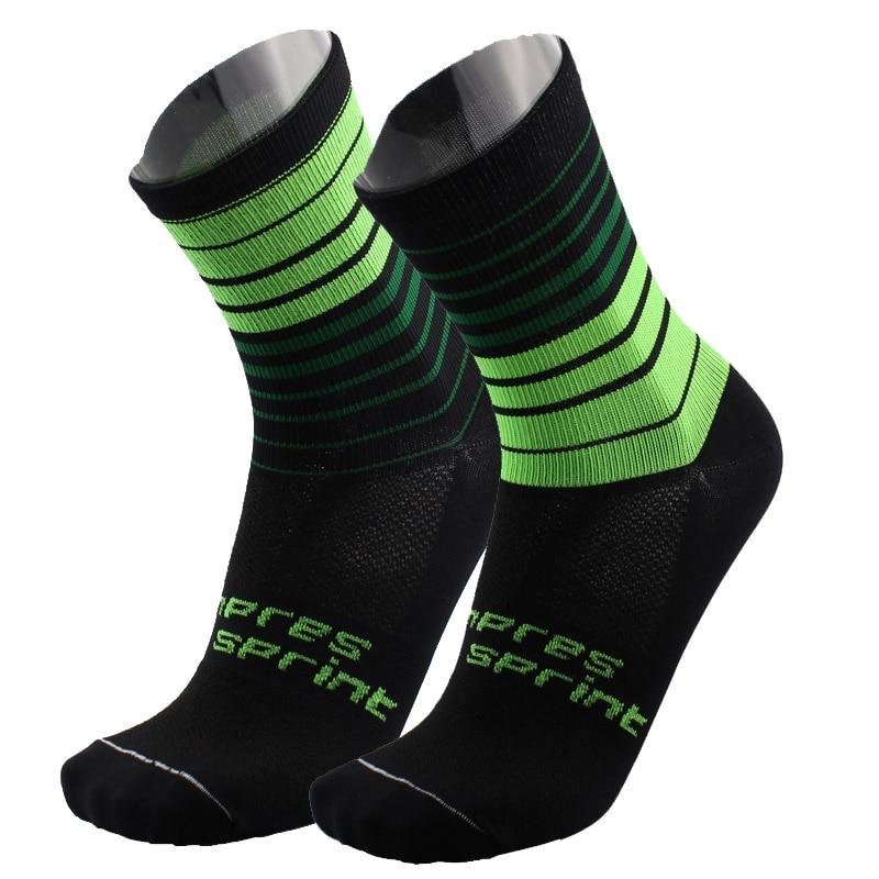2018 COMPRESSPRINT Men Cycling Socks High Elasticity Soft Sports Socks Deodorization Breathable For Compression Socks