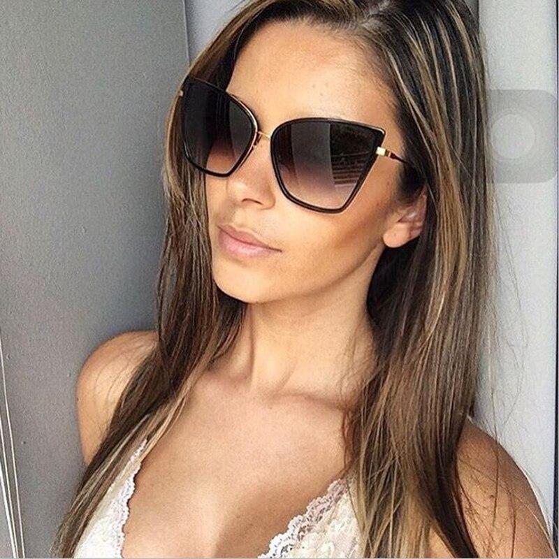 2017 womens fashion cat eye sunglasses women brand designer retro sun glasses ladies vintage. Black Bedroom Furniture Sets. Home Design Ideas