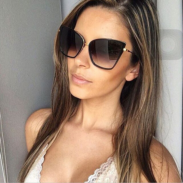 c6938fa2265e40 2019 Womens Fashion Cat Eye Zonnebril Vrouwen Merk Designer Retro Zonnebril  Dames Vintage Bril of oculos