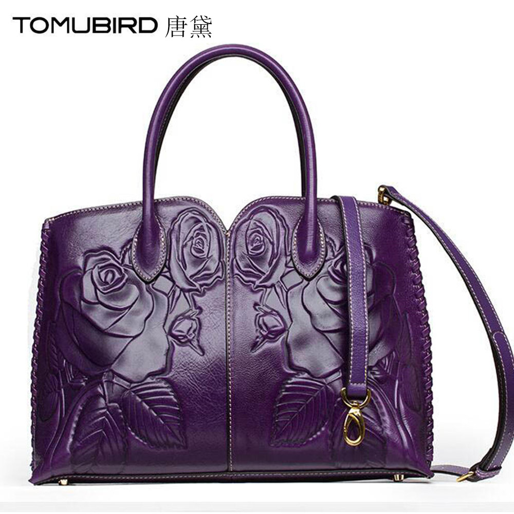 TOMUBIRD women bag genuine leather handbag Fashion Ladies Crocodile Hand Embossed Tote Shoulder Handbags Bolsas femininas 2017 2018 yuanyu 2016 new women crocodile bag women clutches leather bag female crocodile grain long hand bag
