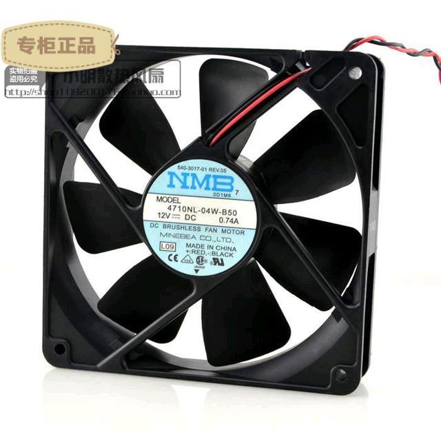 Entrega gratuita. 12 cm ventilador 12025 12 v 0.74 doble cojinete de bolas 4710 nl-04 w-B50