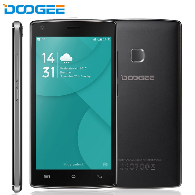 DOOGEE X5 MAX X5 MAX PRO ROM 8GB+RAM 1GB 3G Battery 360 Degrees Fingerprint 5.0'' Android 6.0 MTK6580 Quad Core 1.3GHz
