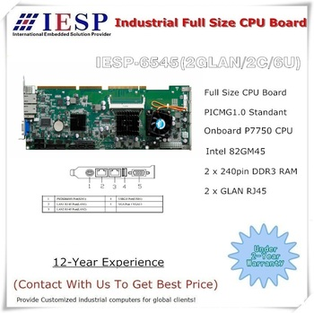 industrial full size single board,  single board computer, onboard P7550 CPU, 82GM45 Chipset, industrial motherboard, IPC